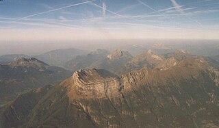 Bauges mountain range