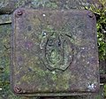 Mather and Platt monogram. 1909 Hydroelectric plant. Caven Mill, Montgreenan, North Ayrshire.jpg