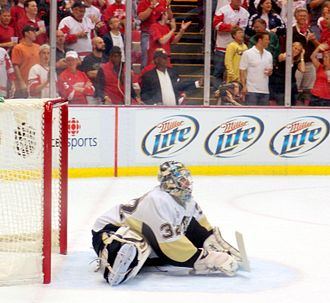Mathieu Garon - Garon relieved Fleury in Game 5 of the 2009 Stanley Cup Finals.
