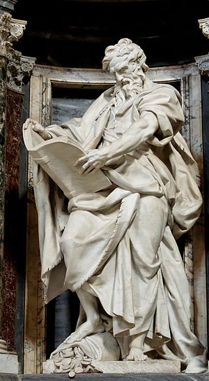 Matthew the Apostle - Saint Matthew (1713–15) by Camillo Rusconi, Archbasilica of St. John Lateran in Rome