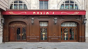 Maxim's, 7 Rue Royale, 75008 Paris, 14 September 2019.jpg