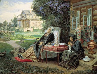 Past - Everything is in the past (Vassily Maximov, 1889).
