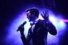 Mayer Hawthorne in The Natural History Museum in Los Angeles op 6 januari 2018