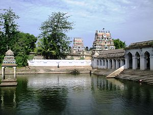 Mayiladuthurai - The town is named after Mayuranathaswami Temple