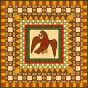 History of quilting - Example of a medallion quilt with applique.