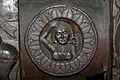 Medallion - 2nd Century BCE - Red Sand Stone - Bharhut Stupa Railing - Madhya Pradesh - Indian Museum - Kolkata 2012-11-16 1846.JPG