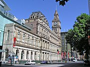 Melbourne GPO building on the corner of  Elizabeth Street and Bourke Street in the heart of the Melbourne CBD