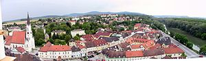 Melk - Melk seen from the abbey