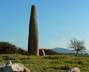 Pre-Nuragic Sardinia - Menhir of monte Corru Tundu, Villa Sant'Antonio