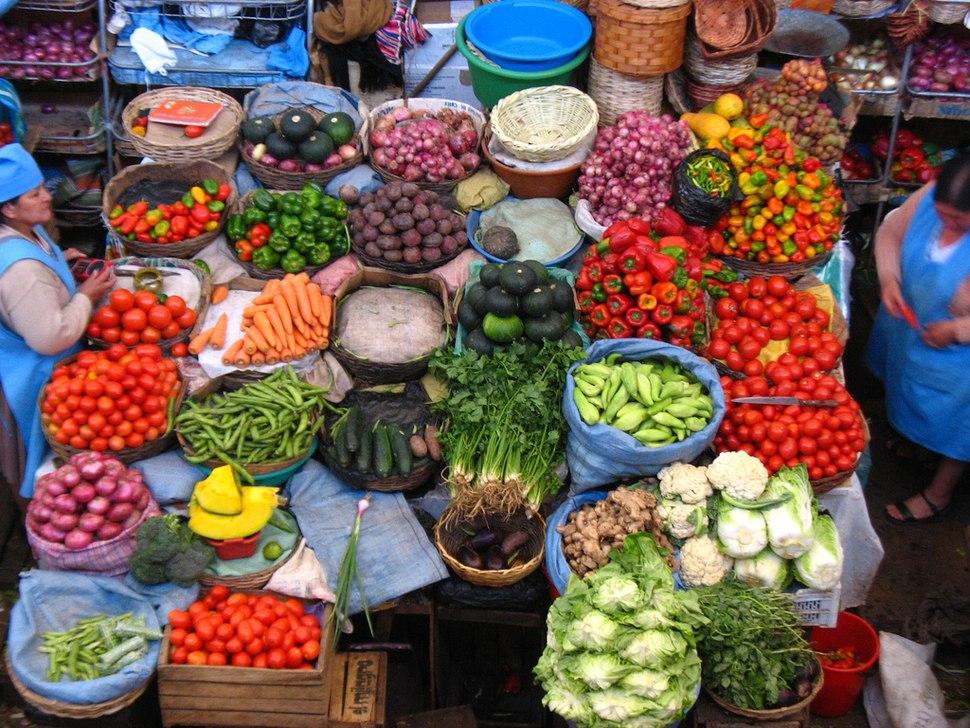 Mercado en la ciudad de Sucre Bolivia