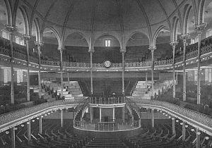 Metropolitan Tabernacle - Interior of the original Metropolitan Tabernacle