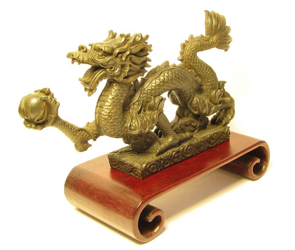 Metal dragon half frontal view