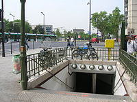 Metro 7 Porte d Italie accès.JPG