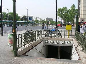 Porte d'Italie (Paris Métro) - Image: Metro 7 Porte d Italie accès