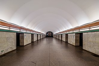 Yelizarovskaya (Saint Petersburg Metro) - Station Hall