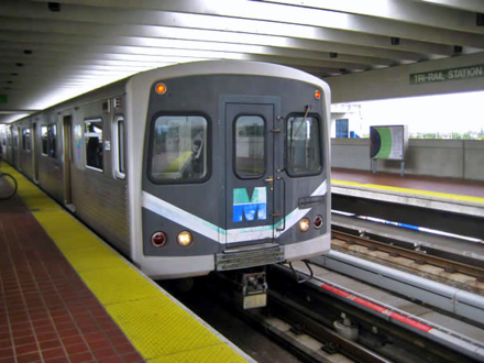 The Metrorail is the city's rapid transit system and connects the city's central core with its outlying suburbs Metrorail-Tri-Rail.png