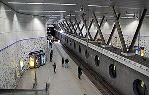 Wilhelminaplein metro station - Platform for northbound trains