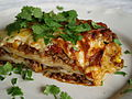 Mexican lasagne with parsley, April 2011.jpg