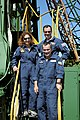 Michael E. Lopez-Alegria (top right), Anousheh Ansari (left); and Mikhail Tyurin.jpg