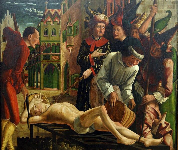 File:Michael Pacher - Martyrium des Hl. Laurentius.jpg