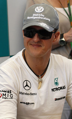 2012 Bahrain Grand Prix - Michael Schumacher was eliminated at the end of Q1.