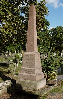 Balfe's funerary monument at Kensal Green Cemetery, London, photographed in 2014 (Source: Wikimedia)
