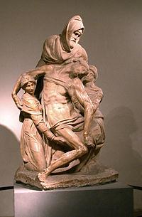 Michelangelo, la Pietà. Firenze, Museo dell'Opera del Duomo