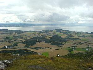 Skatval - Midtbygda as seen from Forbordsfjellet