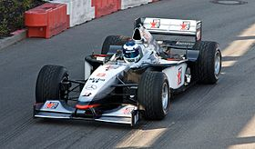 Mika Hakkinen 2008 Stars and Cars McLaren MP4-13.jpg