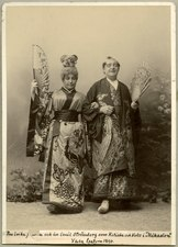 Mikadon, Vasateatern 1890. Rollporträtt - SMV - H8 054.tif