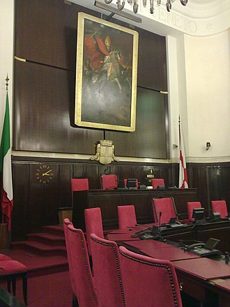 City Council of Milan - The Council meeting room.