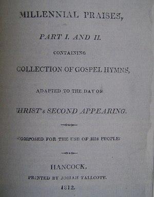 Millennial Praises - Millennial Praises 1812 title page