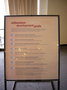 Goal  Wikipedia A Poster At United Nations Headquarters Showing Millennium Development Goals An Essay On Science also Thesis Statement Essay Example How To Write A High School Essay