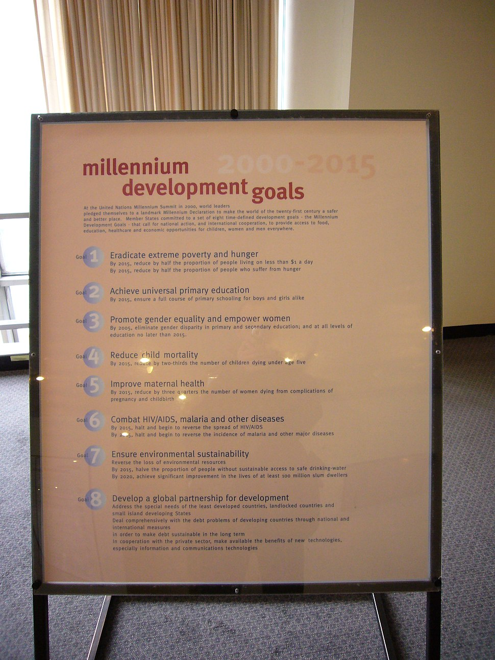 Millennium Development Goals, UN Headquarters, New York City, New York - 20080501