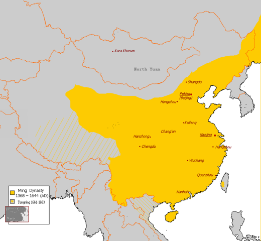 Map of the Ming dynasty state
