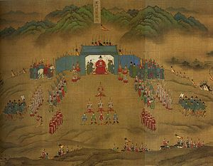 Wanli Emperor - A painting of a Ming Army unit in the Wanli era