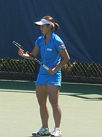 Misaki Doi at Bank of the West Classic qualifying 2010-07-25 5.JPG