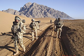 Romanian Armed Forces - Romanian soldiers on patrol in Afghanistan
