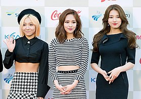 Miss A at 2014 K-Pop Awards red carpet 01.jpg