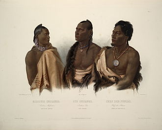Otoe - Image: Missouri indian Oto indian and chief of the Puncas 0040v
