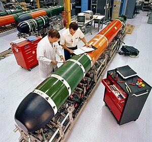 Mark 48 torpedo - Image: Mk 48 torpedo maintenance 1982