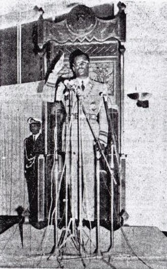 Mobutu Sese Seko - Mobutu swearing in again as President of the Democratic Republic of the Congo following the 1970 election