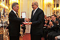 Mohamed ElBaradei receives from Heinz Fischer the Grand Decoration of Honour in Gold .jpg