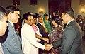Mohammad Mosaddak Alimet withPresident of SriLanka Ranasinghe Premadasa at Bangabhaban in Dhaka.jpg