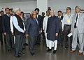 Mohd. Hamid Ansari at the Silver Jubilee celebrations of the Jawaharlal Nehru Centre for Advanced Scientific Research, in Bangalore. The Chief Minister of Karnataka, Shri Siddaramaiah and other dignitaries are also seen.jpg