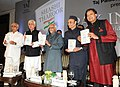 "Mohd. Hamid Ansari launching a book entitled ""Pax Indica India and the World of the 21st Century"", written by Shri Shashi Tharoor, MP, in New Delhi. The Union Minister for Law and Justice and Minority Affairs.jpg"