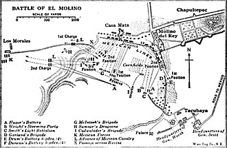 Battle of Molino del Rey - Image: Molino disposition of forces