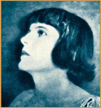 Molly Malone (actress) - Publicity photo of Malone from Famous Film Folk (1925)