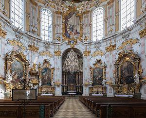 Ettal Abbey - Church interior