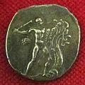 Monetiere di fi, moneta romana repubblicana con eracle e l'idra 01.JPG